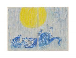 DOGirl - colour pencil on paper 10cm x 15cm